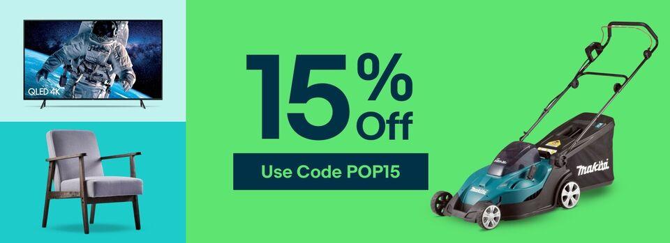 Use Code POP15 - Get 15% off Your Next Buy