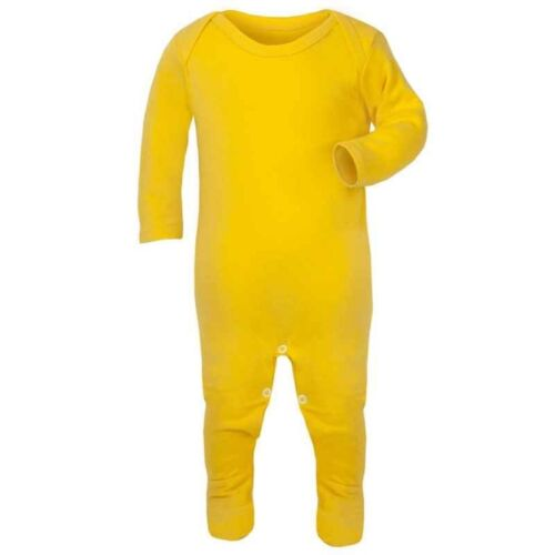 Plain Yellow Baby Romper Rompersuit Babygrow Bodysuit 100/% Cotton