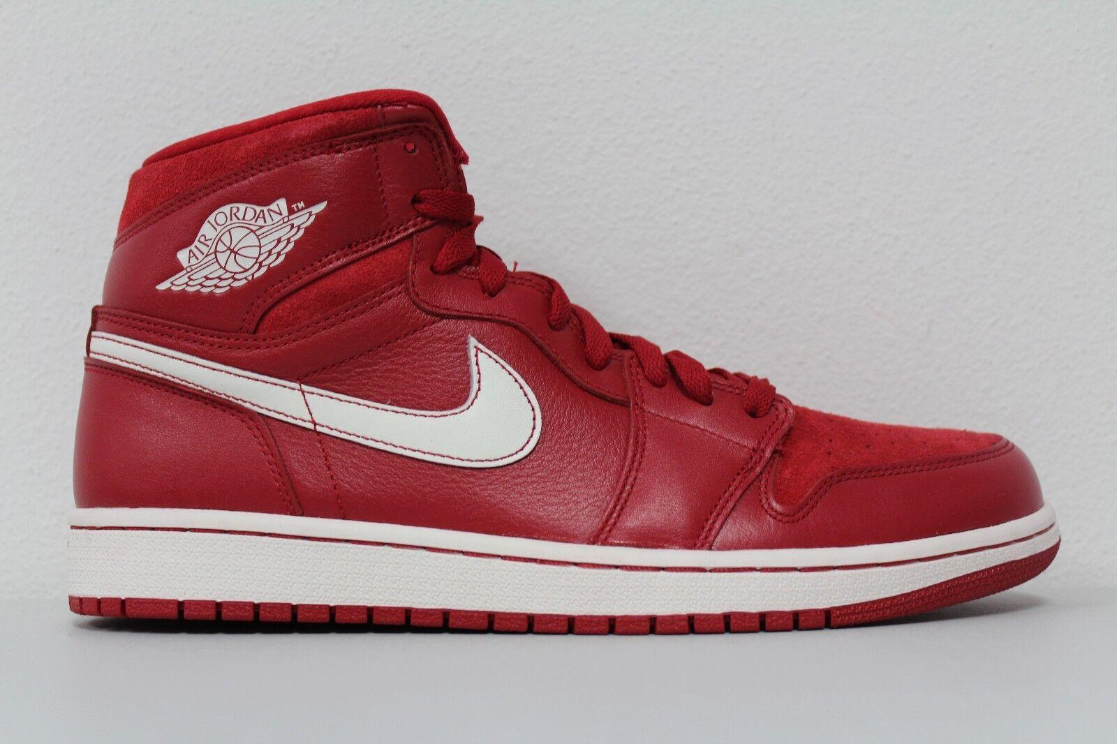 Nike Mens Air Jordan 1 Retro High OG Sz 10 Gym Red Toro Red Sail Wht 555088-601