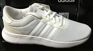 new styles 81ca2 6714c Image is loading ADIDAS-Lite-Racer-K-White-GS-Big-Kids-