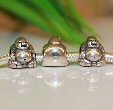 Happy Man Little Buddha Glücksbote Glück 925 Sterling Silber European Bead