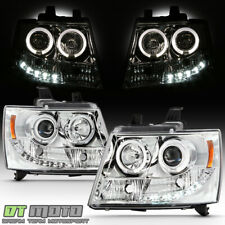 2007 2014 Suburban Tahoe Avalanche Drl Led Projector Halo Headlights 07 14 Lamps Fits 2007 Chevrolet Suburban 1500