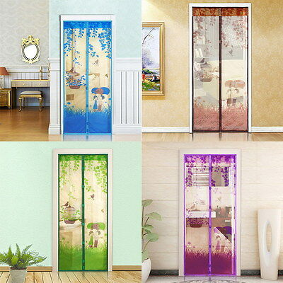 Anti-Insect Fly Bug Mosquito Door Window Curtain Net Mesh Screen with magnets