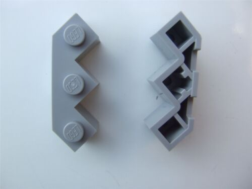 2 x Lego Grey Facet brick 3x3x1-4211718 Parts /& Pieces