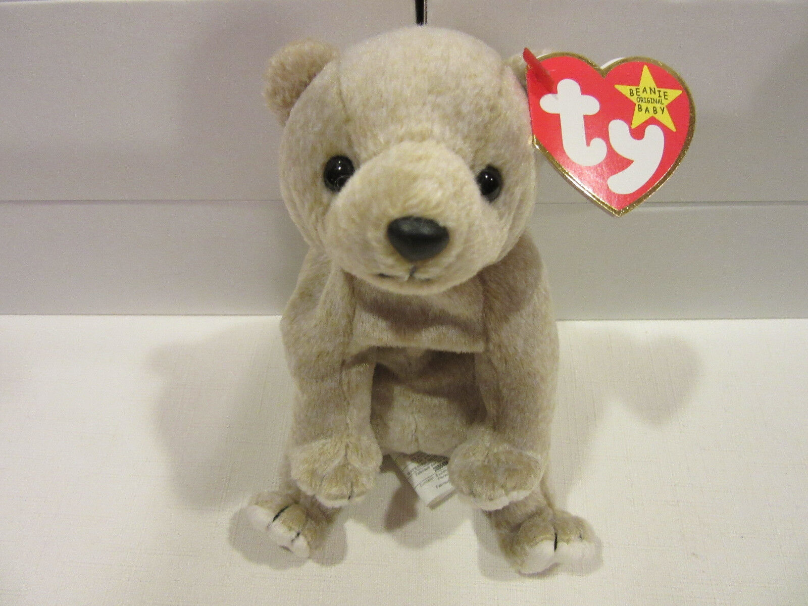 """1999 """"Almond"""" Limited Edition Ty Beanie Baby with Tag Errors Two Tush Tags RARE"""