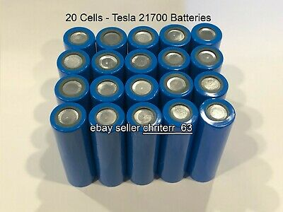 20 Tesla Model 3 Battery Cells 21700 / 2170 Battery with ...