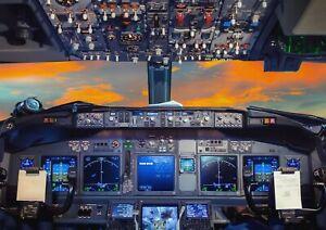 A1-Flight-Deck-Aeroplane-Cockpit-Poster-Art-Print-60-x-90cm-180gsm-Gift-16297
