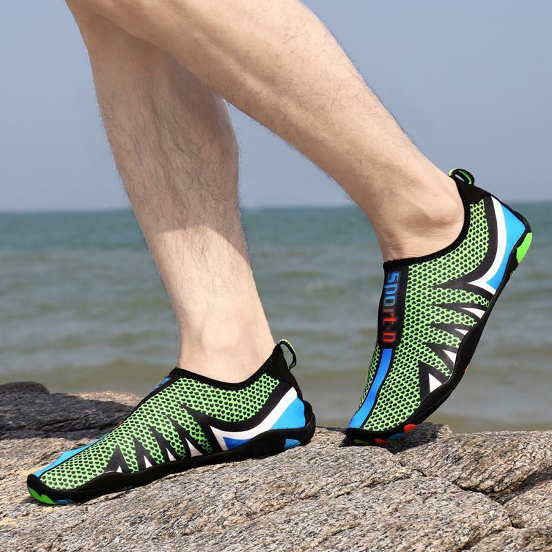 Water Shoes Mens Womens  Quick-Dry Aqua Beach Couple Flat Soft Seaside Swimwear
