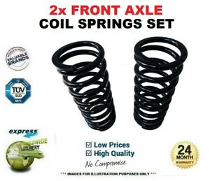 2x FRONT Axle COIL SPRINGS for RENAULT TRAFIC II Box 1.9 dCi 80 2001->on
