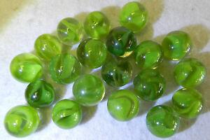 7419m Beautiful Vintage Group or Bulk Lot of 20 Aventurine Cat's Eye Marbles