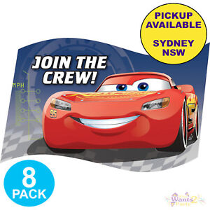 Image Is Loading DISNEY CARS 3 PARTY SUPPLIES 8 PACK INVITATIONS