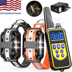 Waterproof-Dog-Training-Electric-Collar-Rechargeable-Remote-Control-875-Yards