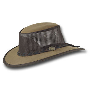 Image is loading Barmah-Hats-Foldaway-Bronco-Cooler-Leather-Hat-Item- d6d33cffb45