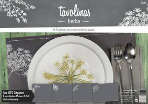 Tavolinas-Papier-Tischset-Herba-schiefer-24-Blatt-individuell-beschriftbar