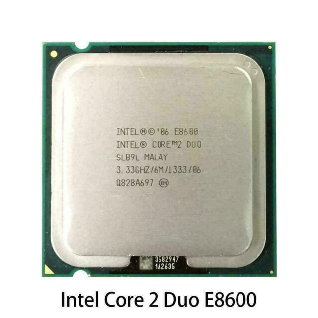 Intel Core 2 Duo E8600 Processor 3.33GHz 6MB 1333MHz Socket775 CPU New S0J8 M5M6