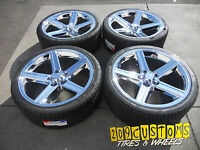 22 Iroc Wheels & Tires 5x127 22x8.5 +38 Jeep Grand Cherokee Limited With Tpms
