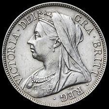 1897 Queen Victoria Veiled Head Silver Half Crown – G/EF