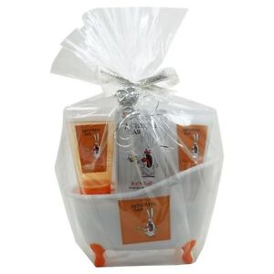 4-tlg-Beauty-Wellness-Geschenkset-ANTI-STRESS-Dekowanne-Duft-Mango-Escape-Neu