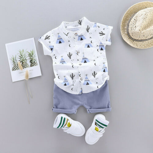 Shorts Summer Outfits Infant Baby Boys Clothes Set Casual Cartoon T-shirt Tops