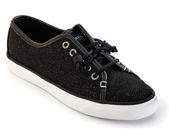 Sperry Top-Sider Women's Seacoast Cavier Black Sneakers Size 9.5 M