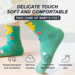 5 Pairs Boy Girl Children Kids Cute Socks Polyester Breathable Cartoon Washable