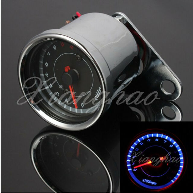 LED 13000 RPM Speedometer Tachometer Odometer Motorcycle Rev Counter Tach Gauge