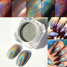 Nail Rainbow Glitter Powder Holographic Laser Pigment Dust DIY Nail Art Design