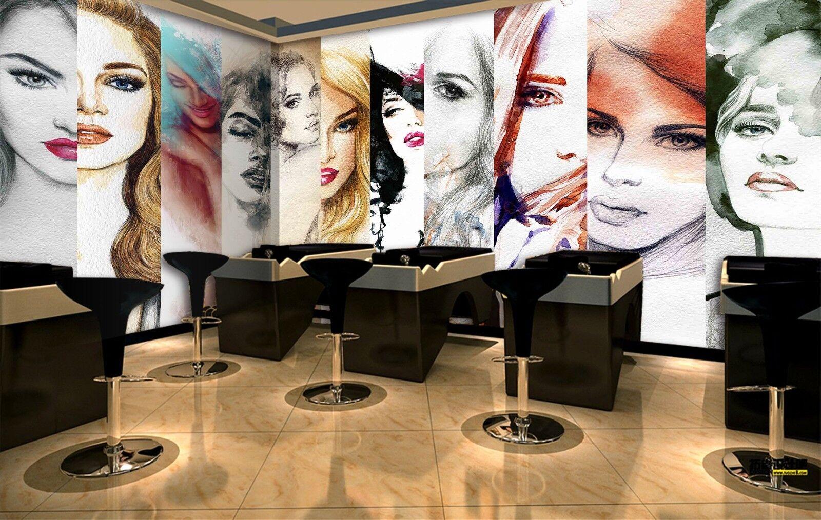 3D Girl Beauty 7217 Wallpaper Mural Wall Print Wall Wallpaper Murals US Lemon