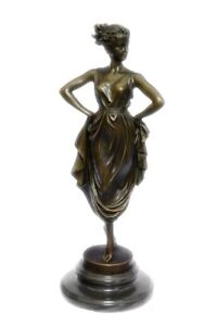STUNNING-BRONZE-BELLY-DANCER-ART-DECO-GIRL-BRONZE-SCULPTURE-SIGNED-Vitaleh