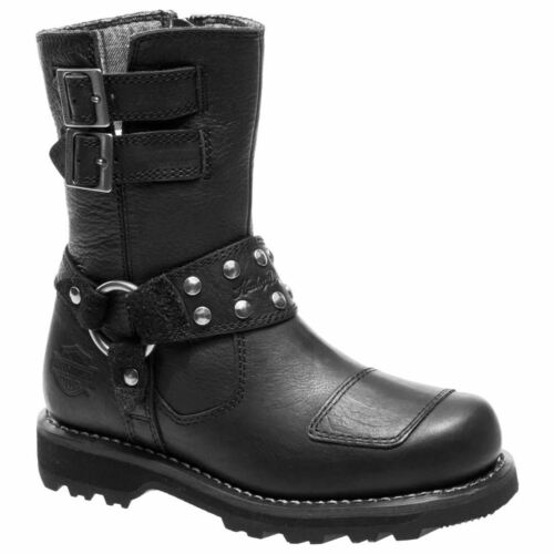 calf Marmora Boots Leather Riding Harley Black Biker Womens Davidson Mid x64wZAqgv