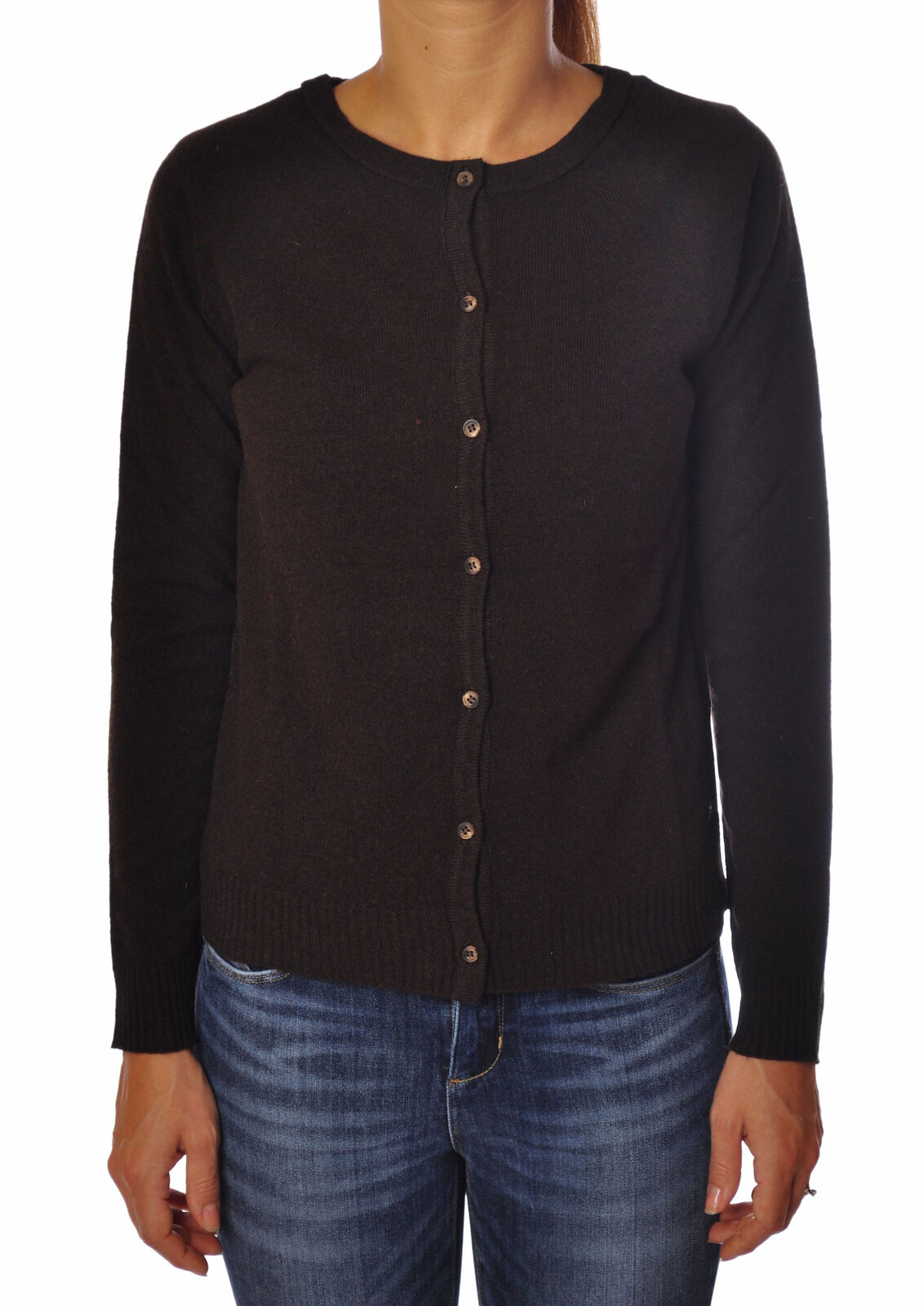 Ottod'ame - Knitwear-Cardigan - Woman - Brown - 2467722B184030