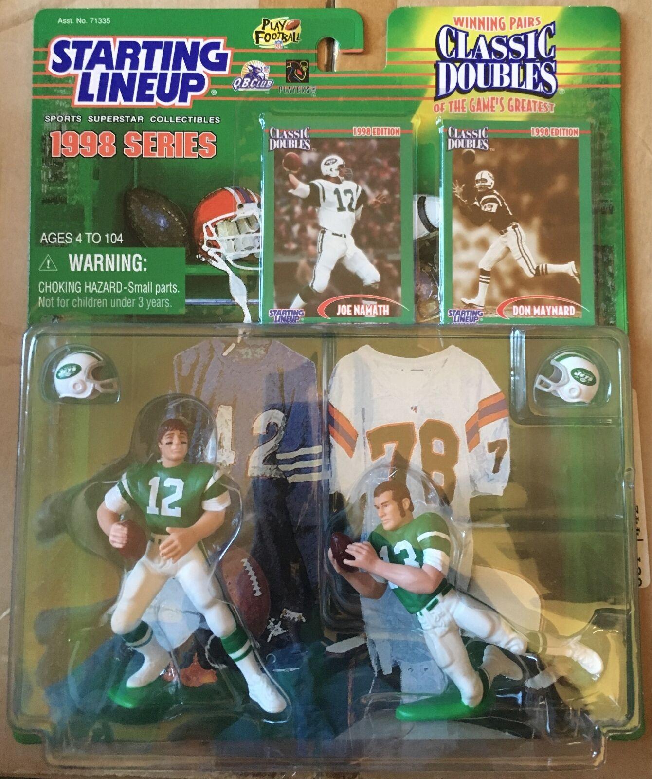 1998 Joe Namath   Don Maynard Classic Doubles SLU w  2 Football Cards N.Y. Jets
