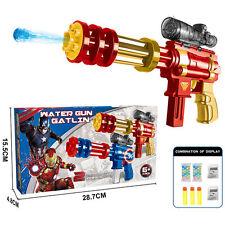 MARVEL HERO IRON MAN WATER BALL SOFT BULLET NERF GUN PISTOL RIFLE KIDS CHILD TOY