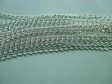 Reino Unido Fabricación de Joyas Enlace Bordillo Collar Cadena hallazgos Plata 6mm X 5mm 10M