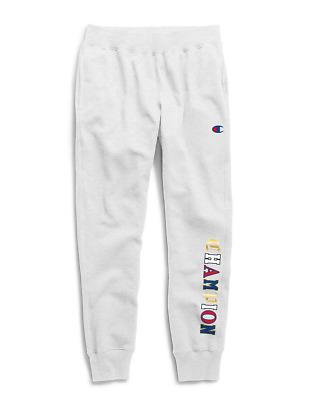 Gray//Blue Champion Men/'s Life Reverse Weave All Over Logo Jogger Pants