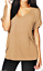 WOMENS-LADIES-BAGGY-LOOSE-FIT-V-NECK-TURN-UP-SHORT-SLEEVE-TOP-T-SHIRTS-plus-size thumbnail 26