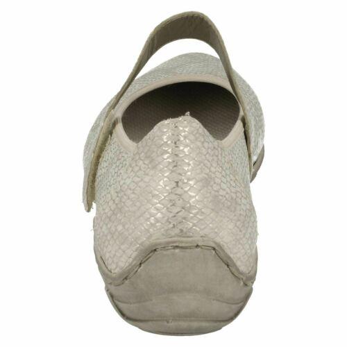 Details about  /LADIES RIEKER WHITE CLASSIC BALLET PUMP MARY JANE FLAT SUMMER SHOES L2062 SIZE