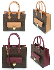 bec5df3b0f04 Michael Kors Bridgette Tote Bag Medium Handbag Coated Canvas ...