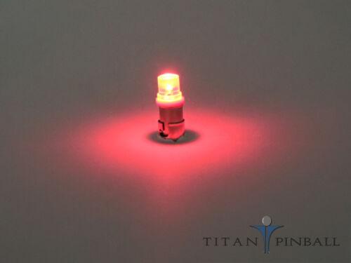 Pinball - 6.3 Volt LED Bulb Flat Top 44//47 Base RED BA9S 10 Pack