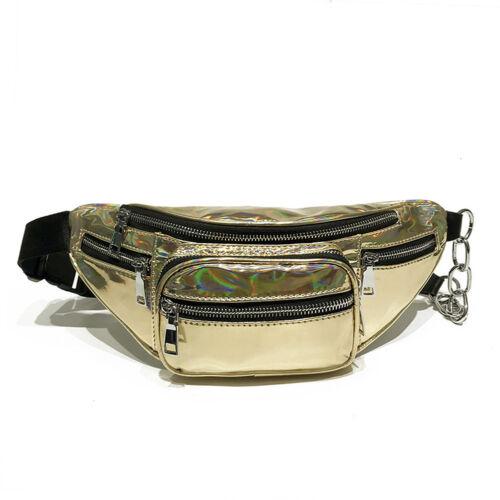 Womens Purse Waist Chest Bag Belt Fanny Pack Hip Bum Zipper Shoulder Bags Punk