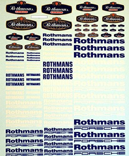 Rothmans Porsche New nuevo arco patrocinadores 1:18 decal estampados