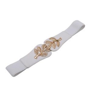 Elastic-Golden-Leaves-Buckle-Waist-Seal-Fashion-Decorative-Belt-Women-Wild-D