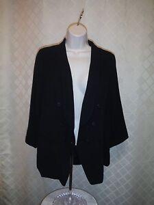 3-4-Sleeve-1-button-Black-women-039-s-Jacket-size-10-LC-Lauren-Conrad-96-polyester