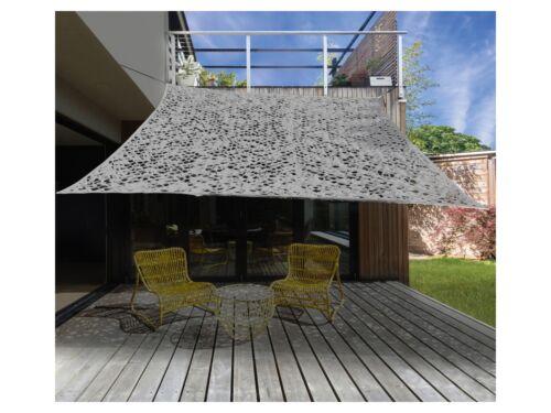 SONNENSEGEL CAMOUFLAGE grau 4-Eckig 2x3 m oder 3-Eckig 3,6x3,6x3,6 m TARNFARBE
