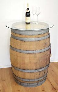 Barile Legno Barrique Eichenfass Antico Botte Di Vino Tavolino Da Bar Con Ebay