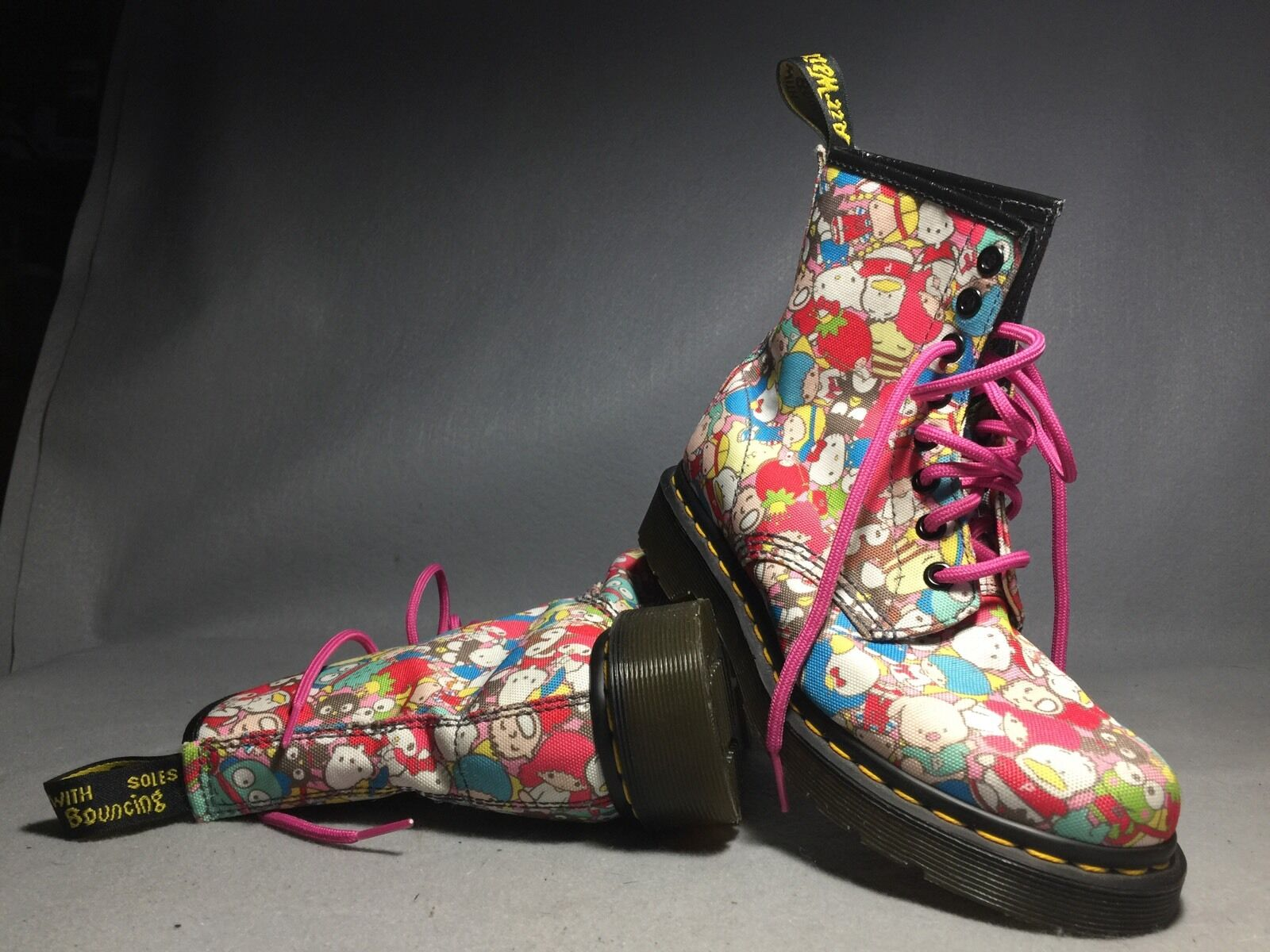 DOC DR MARTENS SANRIO HELLO KITTY BOOTS RARE 2010 LIMITED EDITION NEW 3US