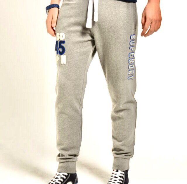 Herren Superdry Offset Joggers Sweatpants Größe L Waist 32/34
