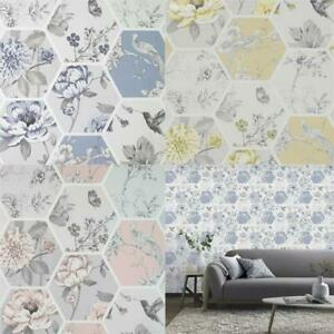 Arthouse-Chinoise-Decoupage-Birds-Floral-Patchwork-Wallpaper-10m-Rolls