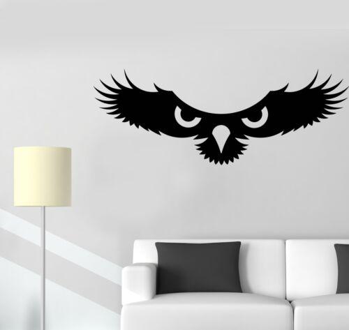 g045 Vinyle Mur Autocollant Predator bird owl Eagle Hawk Autocollants Murales Cadeau Unique