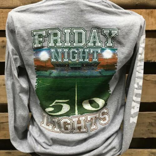 Backwoods Born /& Raised Friday Night Lights Football Bright Unisex Long Sleeve T
